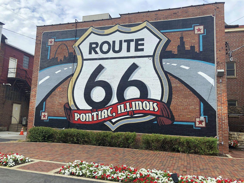Mural Route 66 Pontiac