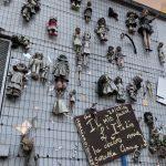 El muro de las muñecas de Milán