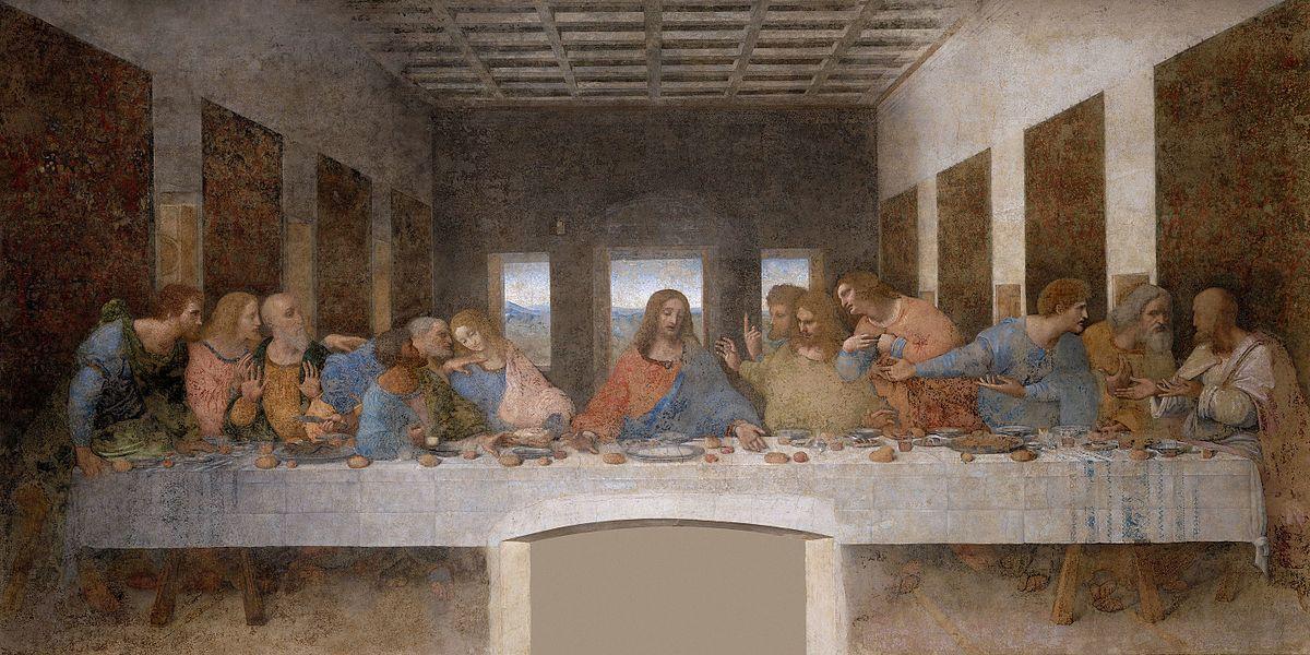 La Última Cena de Leonardo da Vinci (Cenacolo Vinciano).