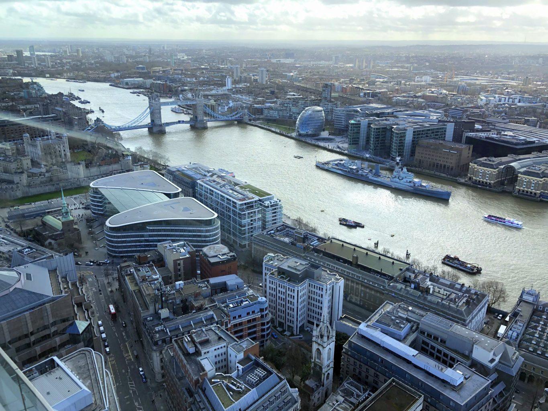 Más vistas desde el mirador. El mirador Sky Garden de Londres