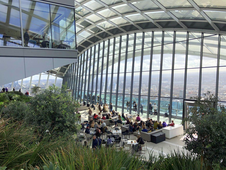 Bares en el Sky Garden.. El mirador Sky Garden de Londres