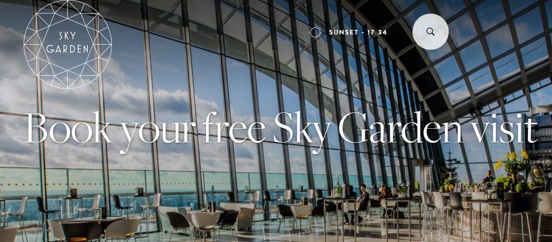 Haz click en la imagen para reservar tus tickets gratuitos. El mirador Sky Garden de Londres