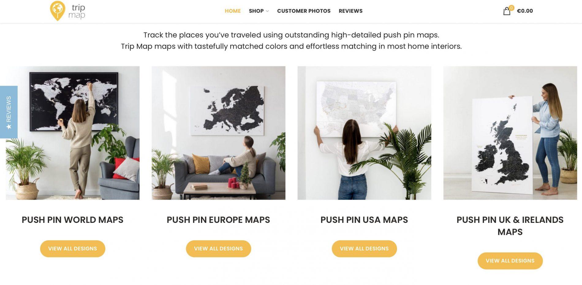 La web de Trip Map World