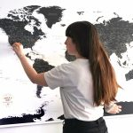 Colocando chinchetas en el mapa. Trip Map World